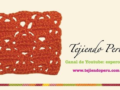 Punto fantasía # 30 tejido a crochet: varetas cruzadas