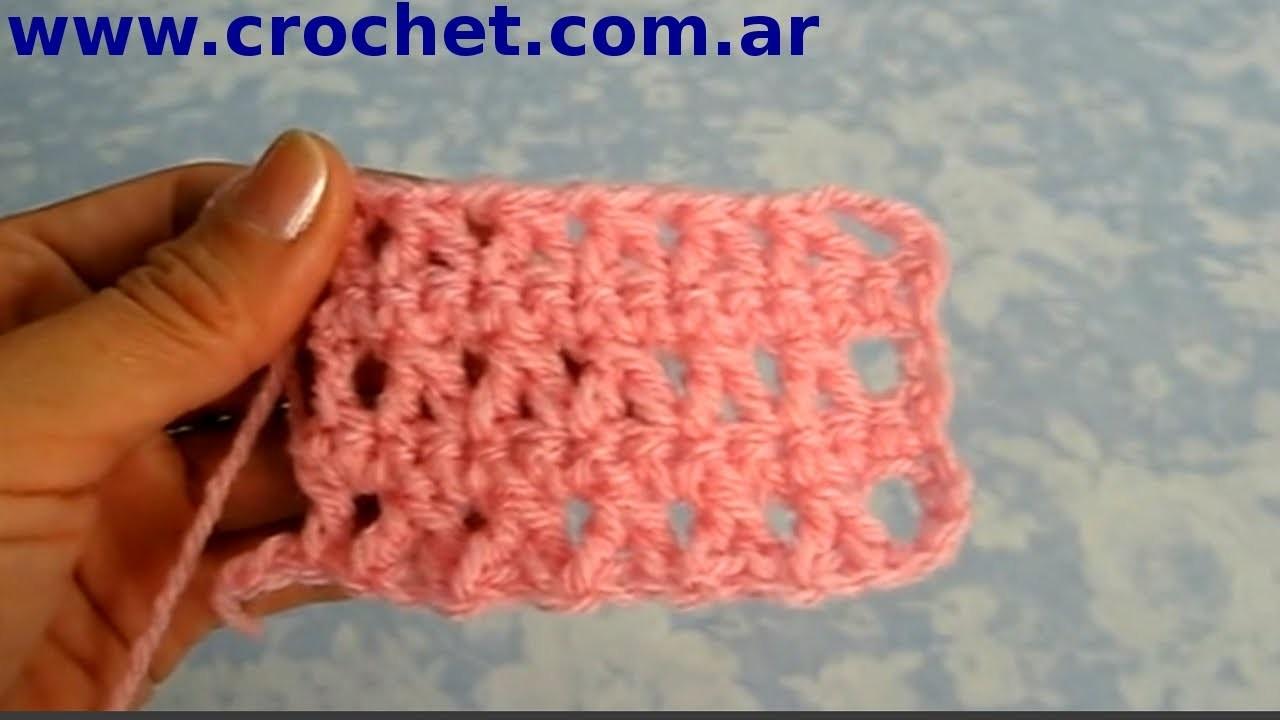 Punto fantasía Nº 7 en tejido crochet tutorial paso a paso.