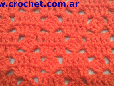 Punto Fantasía N° 74 en tejido crochet tutorial paso a paso.