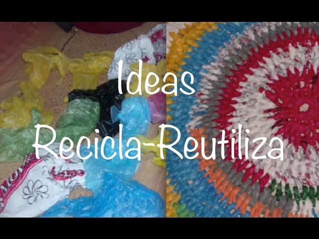 Reutiliza Bolsas de Plástico Tejiendo, Recycle Plastic Bags Crochet DIY
