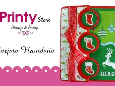 Scrapbook en Printy Store_Tutorial Tarjeta de Navidad 2013