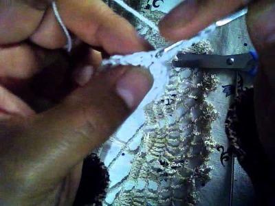 Sombrerito-boda a crochet