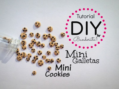 Tutorial DIY Mini Galletas arcilla polimerica. Polymer Clay Cookies