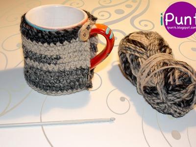 Tutorial patrón Cubretazas HotCup (crochet) paso a paso