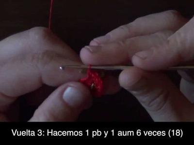 TUTORIAL PENDIENTES SANDÍA A CROCHET