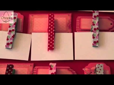Tutorial: Planning Anual con Scrapbooking y pinzas de la ropa
