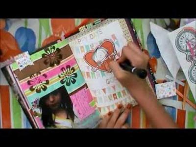 TUTORIAL SCRAPBOOK ♥ SMASH BOOK Haz una pagina conmigo ♥ 13  07  2013 ♥
