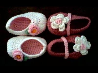 Tutorial zapatitos de crochet para bebe paso a paso