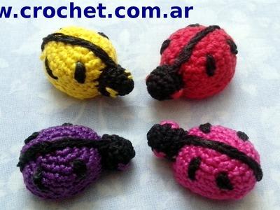 Vaquita San Antonio o Mariquita amigurumi en tejido crochet tutorial paso a paso.
