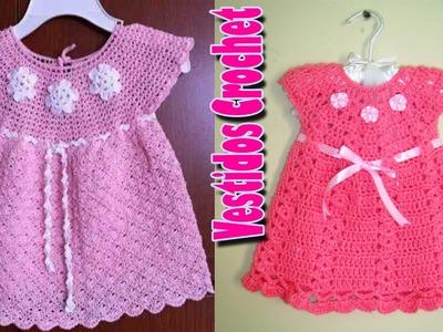 Vestidito de niña Tejidos a Crochet