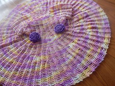 Vestido Matizado para Niña Crochet parte 2 de 2