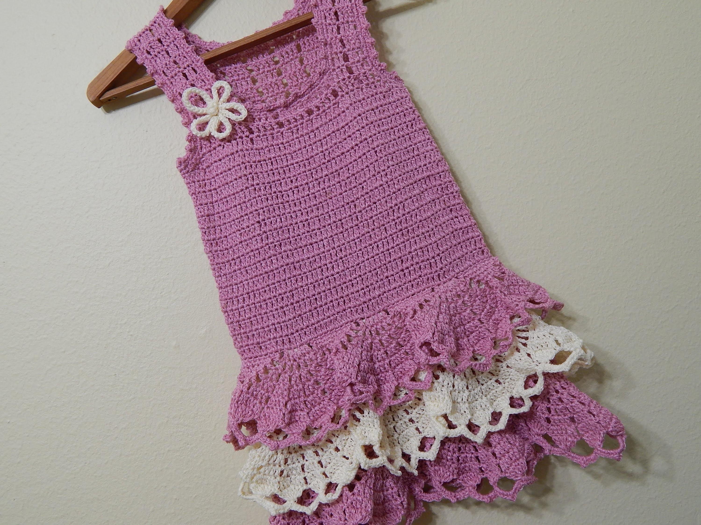 Vestido para niña Crochet parte 1 de 3