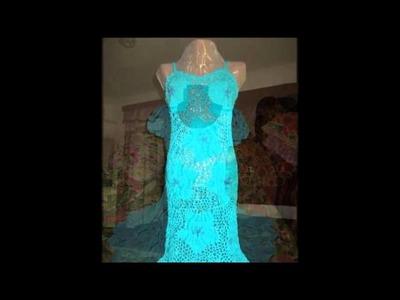 Vestidos de crochet hechos a mano para mujer