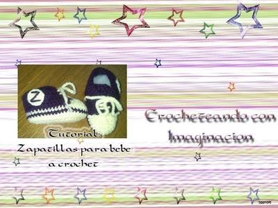 Zapatillas para bebe a crochet