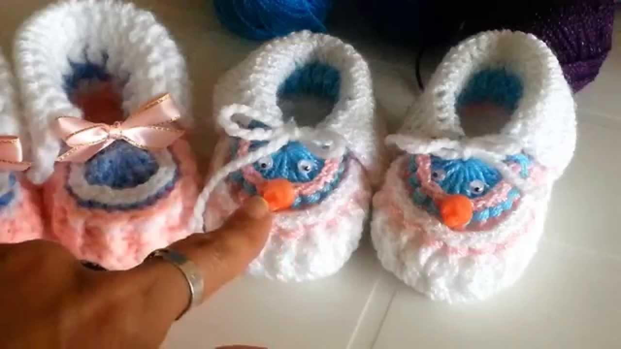 Zapatitos a crochet