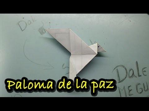 # 11 Origami - paloma de la paz de papel paso a paso ( origami - bird of peace paper)