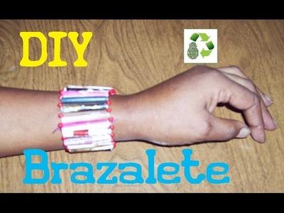 20. DIY BRAZALETE (RECICLAJE DE PAPEL)