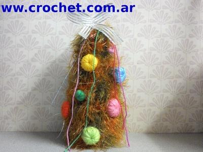 Arbol de Navidad en tejido crochet tutorial paso a paso.