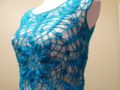 Blusa Turquesa Crochet parte 1 de 3