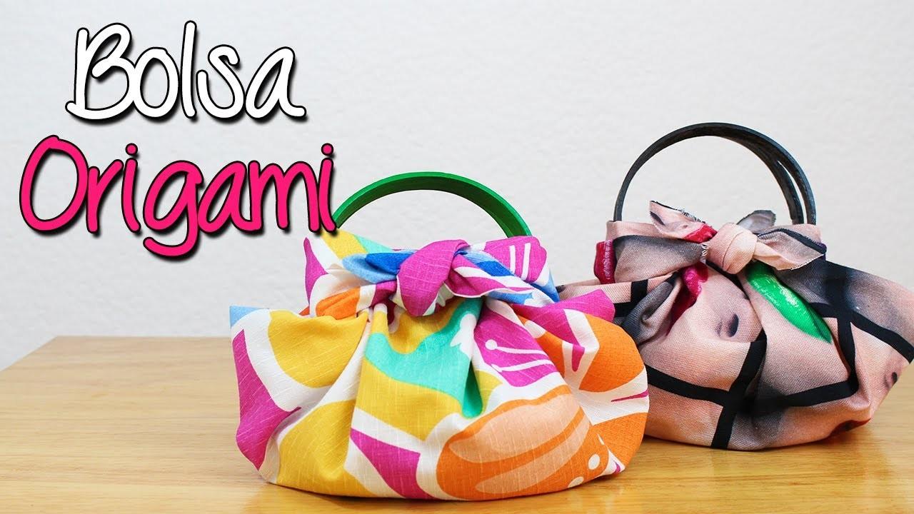 Bolsa Origami - ¿Cómo hacer? Bolsa de tela fácil y sin coser - DIY