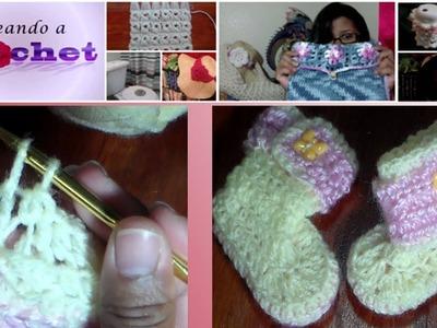 Botines para bebé reversibles tejidos en Crochet