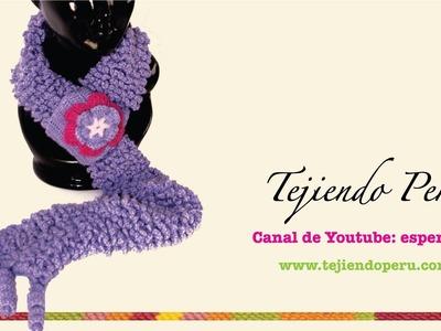 Bufanda en punto corderito a crochet (Parte 1)