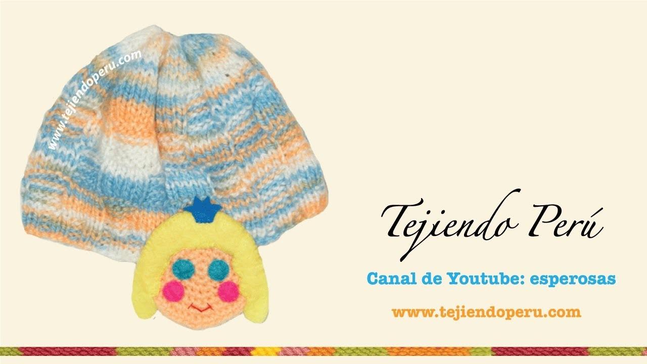 Bufanda y gorrito para niños tejidos en dos agujas y crochet (parte 1: gorrito)