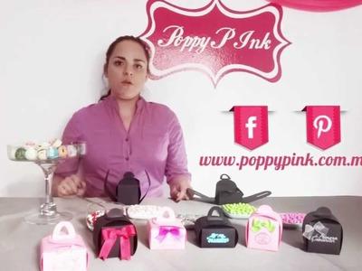 Cajas para recuerdos y Scrapbook Poppy P Ink