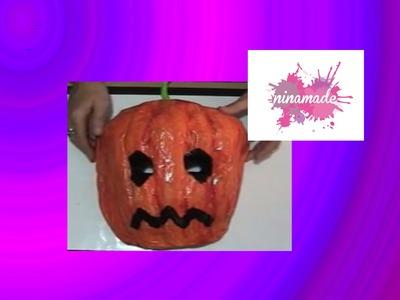 Calabaza Halloween, máscara de papel maché