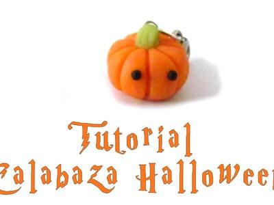 Calabaza Kawaii Halloween.DIY TUTORIAL ARCILLA POLIMERICA