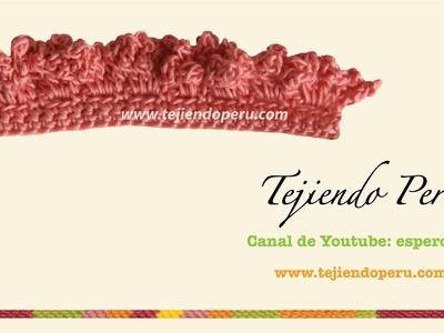 Cenefa para aplicar en crochet # 6 tejida a crochet