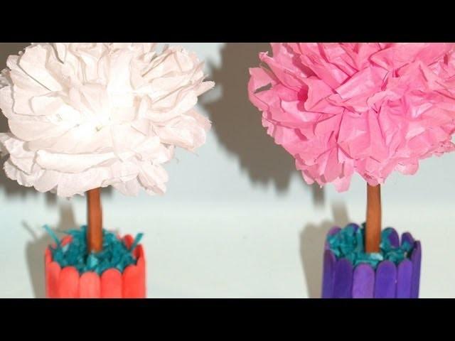 Centro de Mesa con Flores de Papel de Seda - DIY - Tissue Paper Flowers Centerpiece