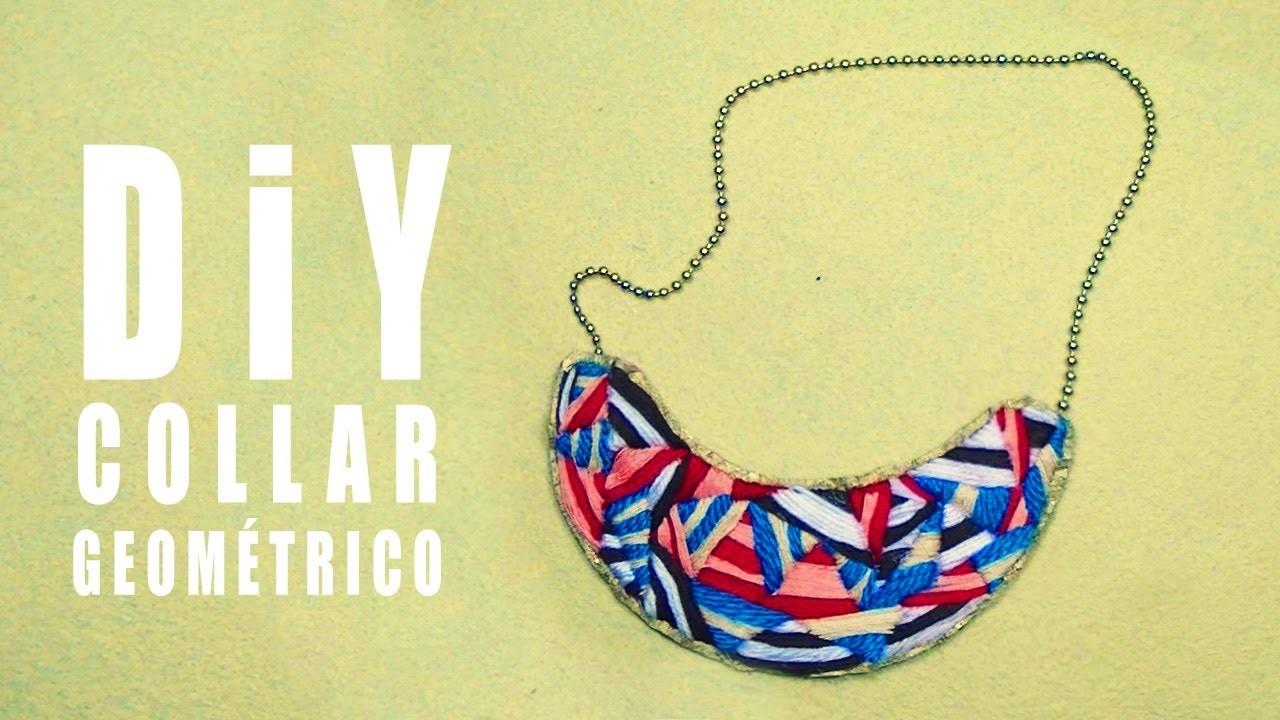 COLLAR BABERO  TEJIDO DIY  - bib necklace