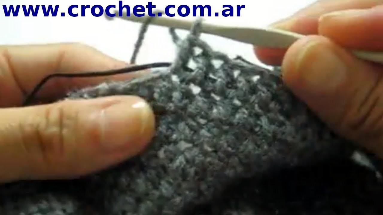 Como colocar elástico en tejido crochet tutorial paso a paso.