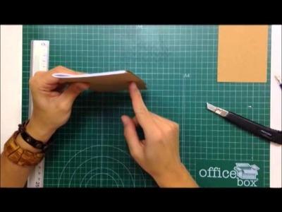 Cómo crear libretas kraft desde cero - TUTORIAL Scrapbook