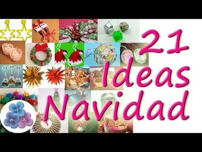 Como Hacer 21 Ideas para Navidad MUY FACIL Tutorial DIY español Pintura Facil
