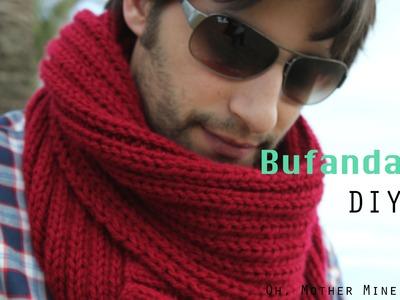 Como hacer bufanda de hombre DIY