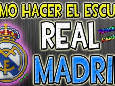 Como hacer el escudo del Real Madrid   Hama Beads   Perler Beads
