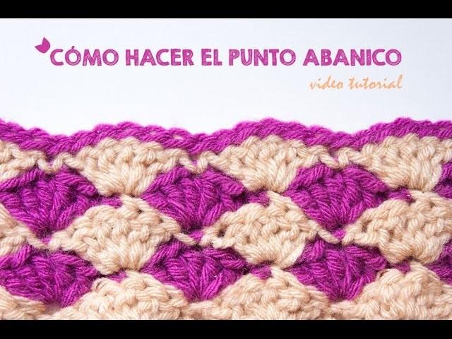 Cómo hacer el punto abanico en ganchillo | How to crochet the shell stitch