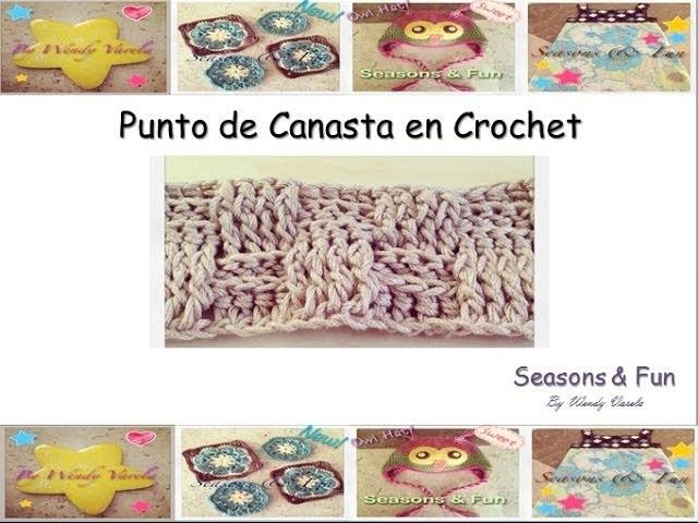Como hacer el Punto de Canasta o Wave Basket en Crochet