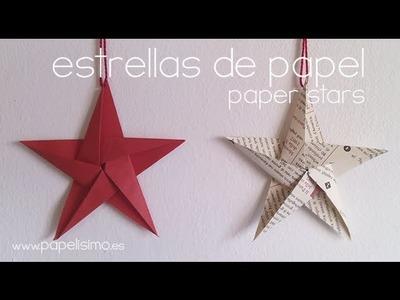 Como hacer estrellas de papel -- DIY Paper stars