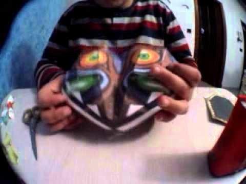 Como hacer la mascara de majora-Papercraft