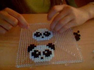Como hacer oso panda hamma beads