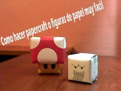Como hacer papercraft o figuras de papel muy facil
