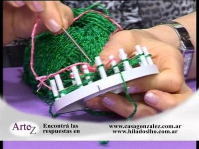 Cómo hacer un árbol de Navidad con tejidos en telar