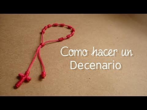 Como hacer un decenario [FACIL] pulsera de Sara Carbonero y Shakira