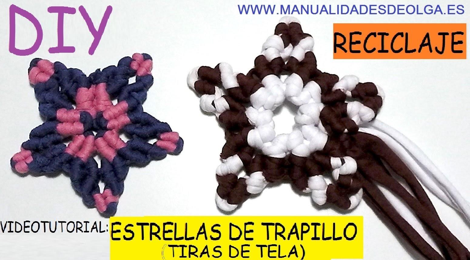 COMO HACER UNA ESTRELLA DE TRAPILLO (RECICLANDO TIRAS DE TELA) CON NUDOS DE MACRAME. TUTORIAL DIY