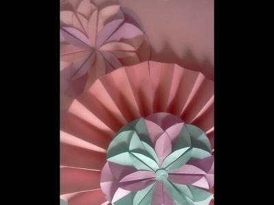 Cómo hacer una flor de papel (origami fácil)