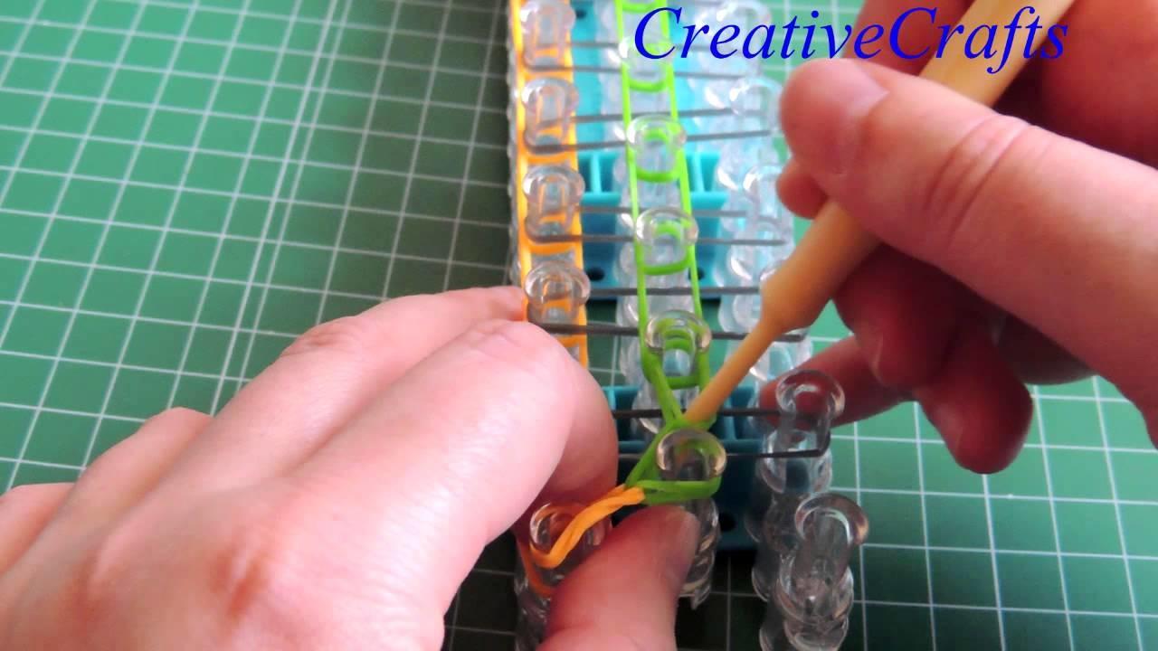 Como hacer una pulsera de gomitas Origami. Rainbow Loom Origami Bracelet.