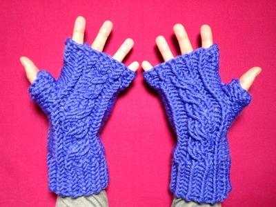Cómo tejer en telar unos mitones trenzados de lana (Tutorial DIY)